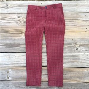Banana Republic Red Diamond Textured pants